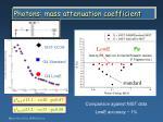 photons mass attenuation coefficient