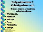 indywidualizm kolektywizm cd1