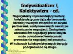 indywidualizm kolektywizm cd2