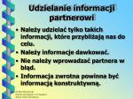 udzielanie informacji partnerowi