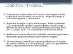 log stica integral