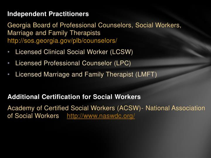 Independent Practitioners