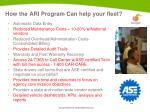 how the ari program can help your fleet
