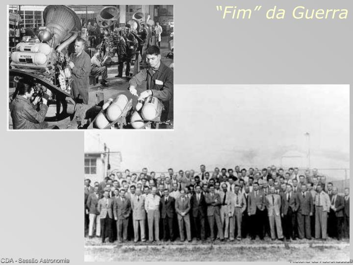 """""""Fim"""" da Guerra"""
