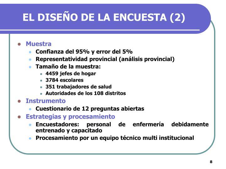 EL DISEÑO DE LA ENCUESTA (2)