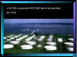 os eua consomem 833 000 barris de petr leo por hora