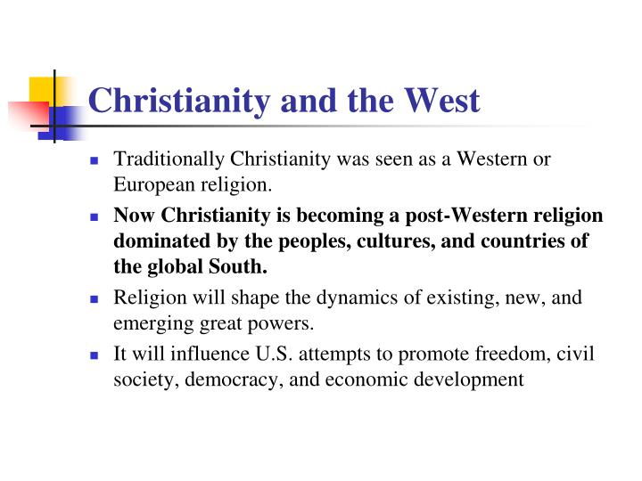 Christianity and the West