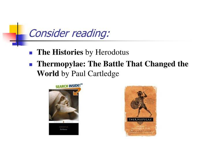 Consider reading: