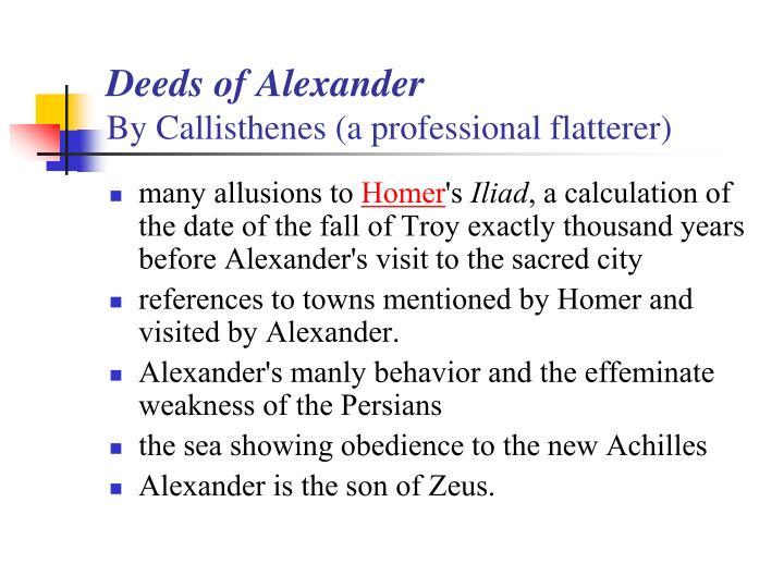 Deeds of Alexander
