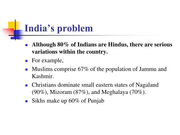 India's problem