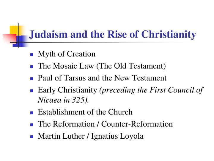 Judaism and the Rise of Christianity