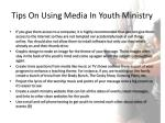 tips on using media in youth ministry1