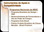 instrumentos de apoio competitividade