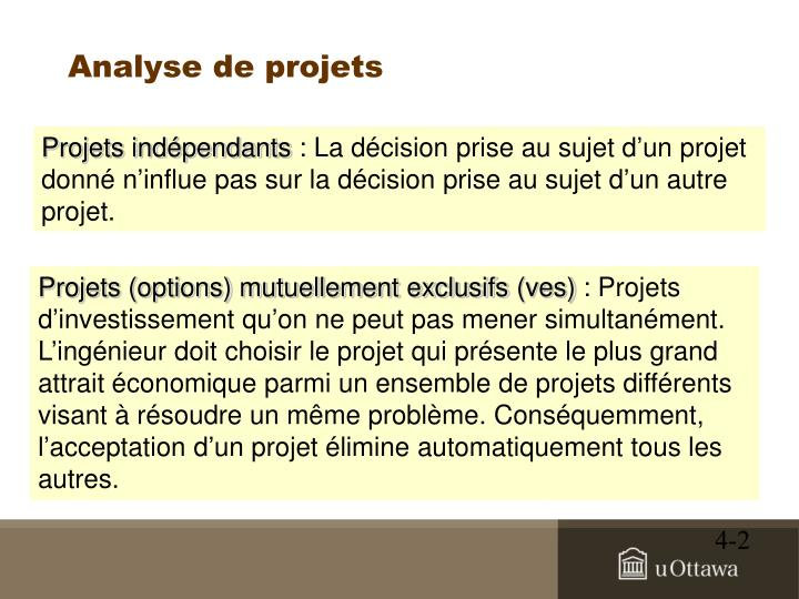 Analyse de projets