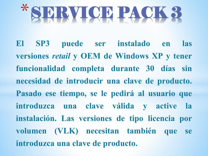 SERVICE PACK 3