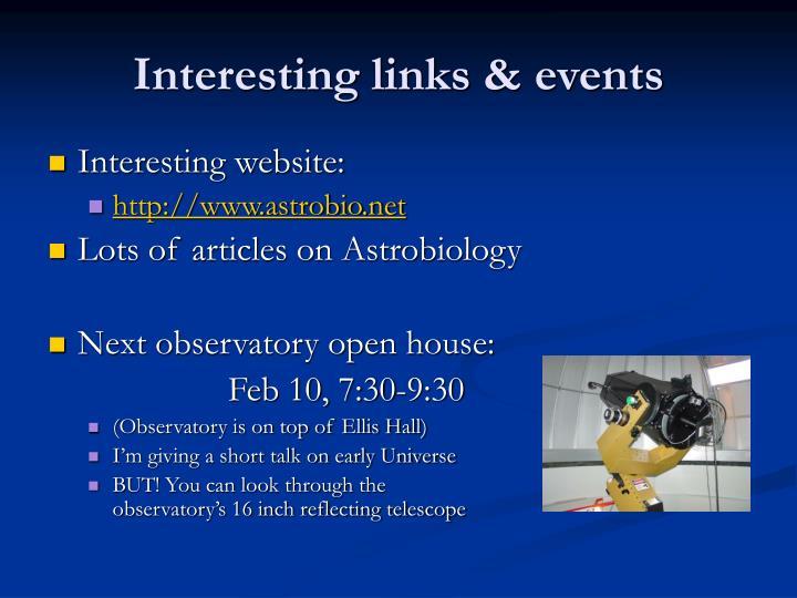 Interesting links events
