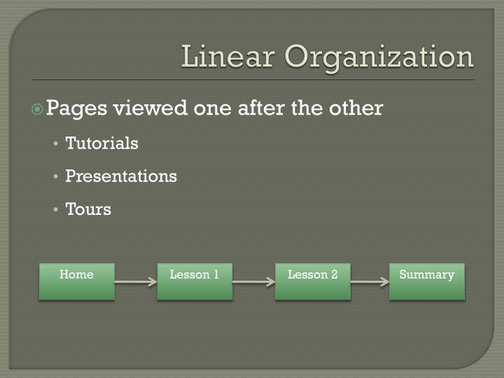 Linear Organization