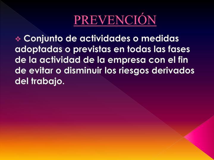 Prevenci n