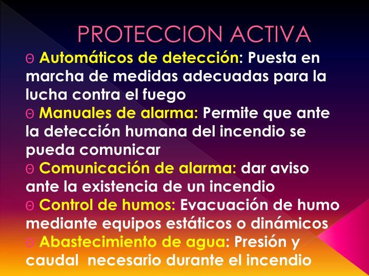 PROTECCION ACTIVA