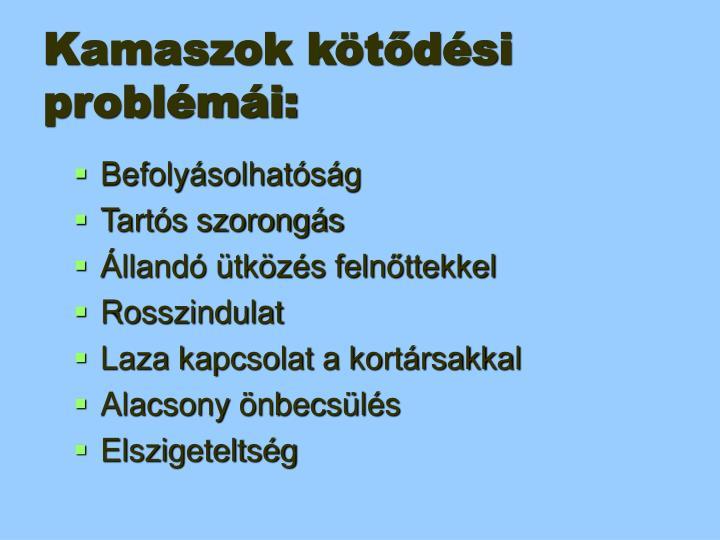 Kamaszok kötődési problémái: