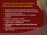 current issues and problems video one of the so called flash killers