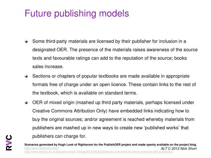 Future publishing models