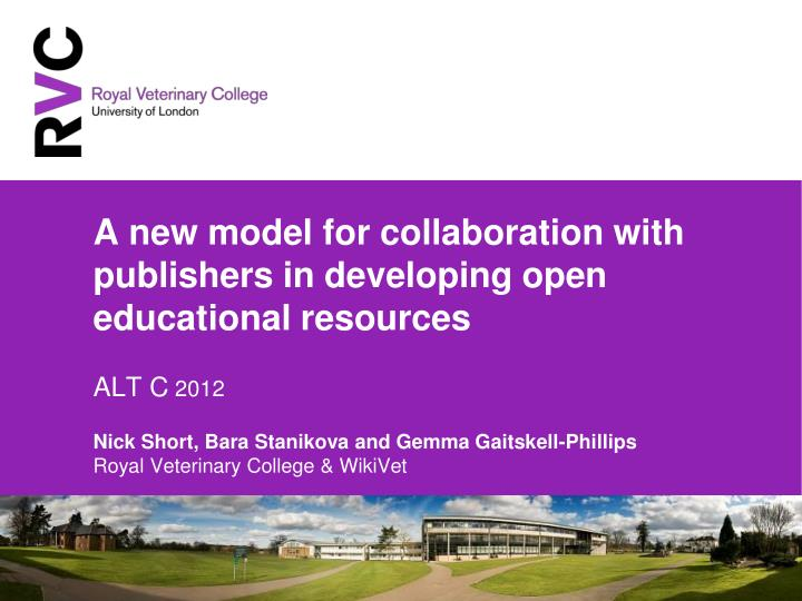 A new model for collaboration with publishers in developing open educational resources