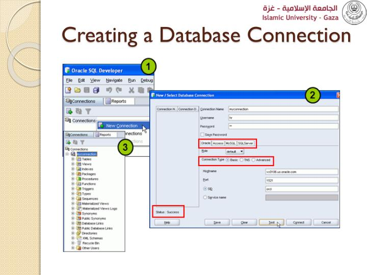 Creating a Database Connection