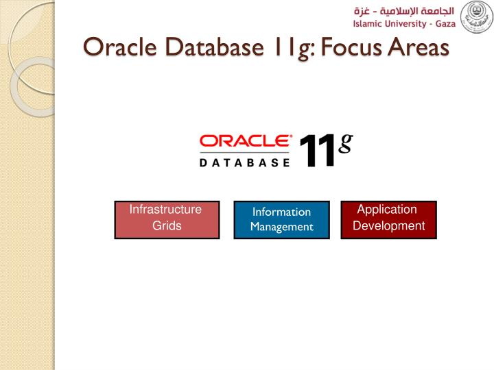 Oracle database 11 g focus areas