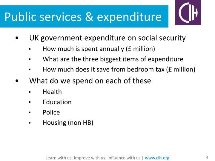 Public services & expenditure