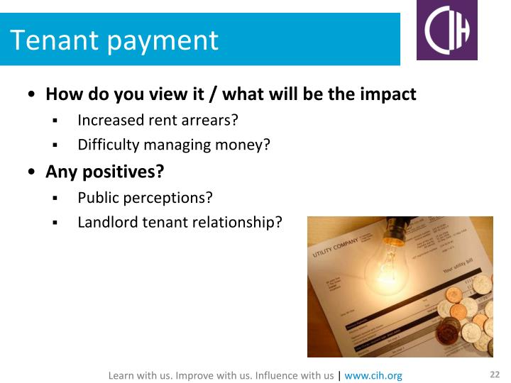 Tenant payment