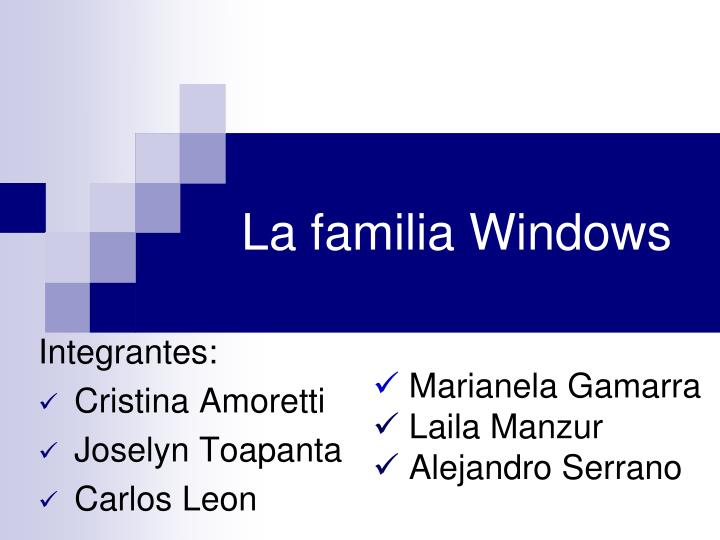 la familia windows