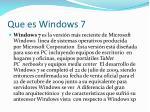 que es windows 7