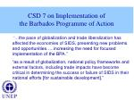 csd 7 on implementation of the barbados programme of action