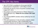 the cfp key items