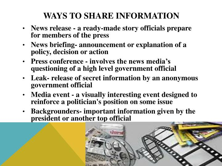 Ways to Share Information