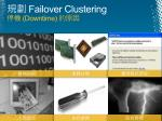 failover clustering downtime