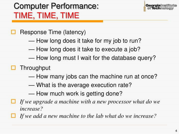Computer Performance: