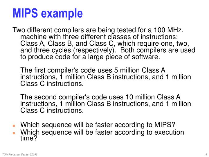 MIPS example