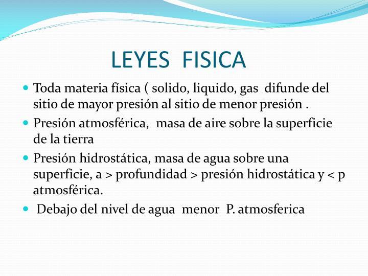 LEYES  FISICA