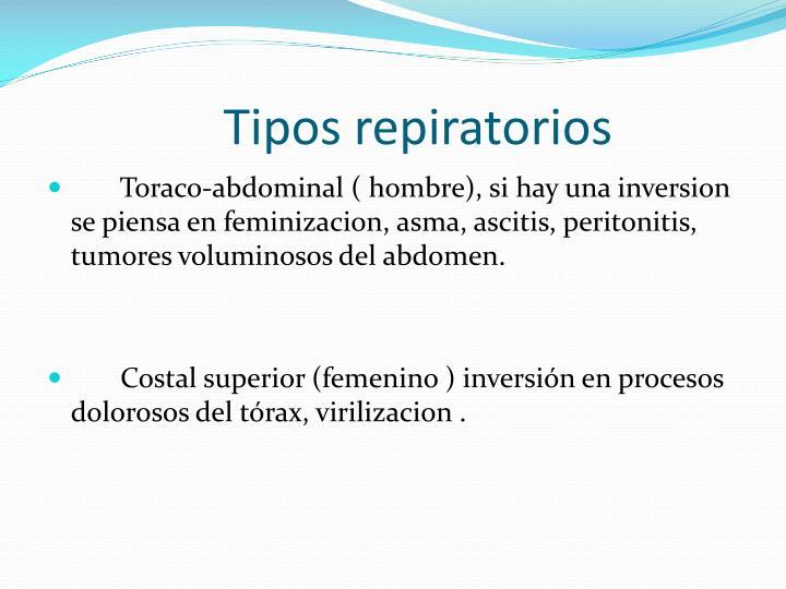 Tipos repiratorios