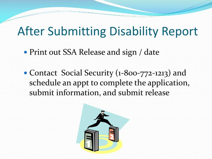 After Submitting Disability Report