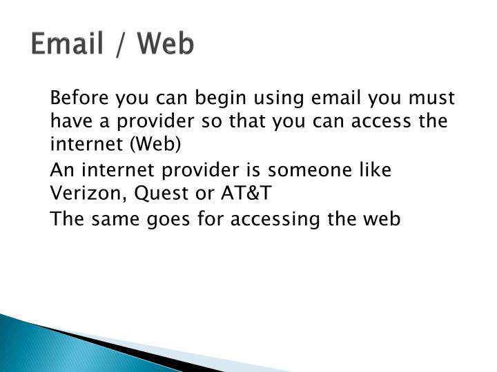 Email / Web