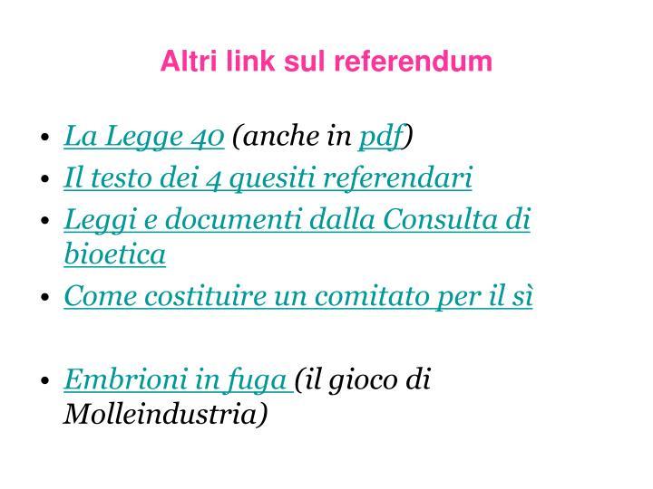 Altri link sul referendum