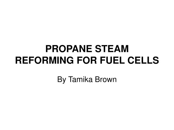 propane steam reforming for fuel cells n.