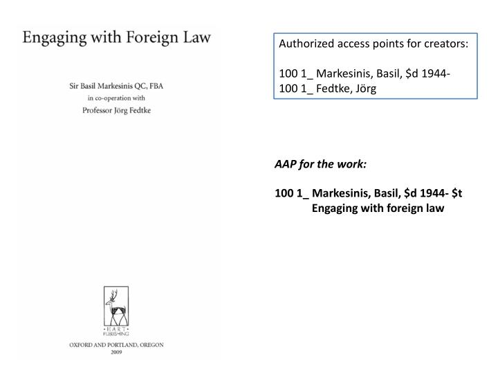 Authorized access points for creators: