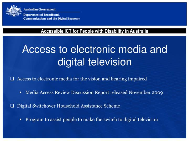 Access to electronic