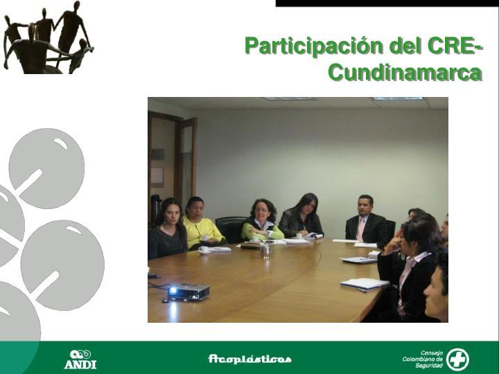 Participación del CRE-Cundinamarca
