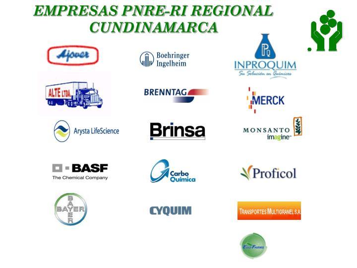 EMPRESAS PNRE-RI REGIONAL CUNDINAMARCA