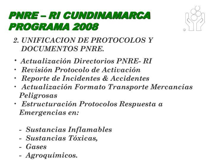 PNRE – RI CUNDINAMARCA